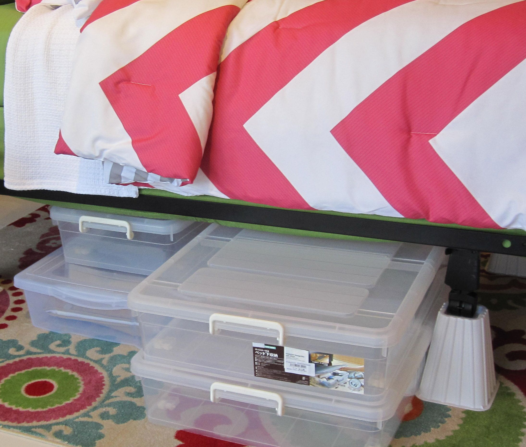 store your things under the bed easily with storage boxes from aki