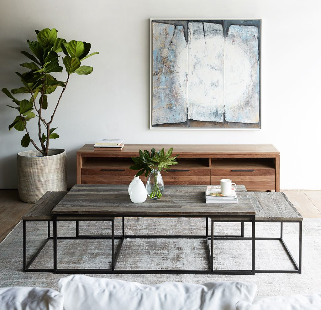 Prato Coffee Table By Nomad Home Made From Recycled Elm Wood And