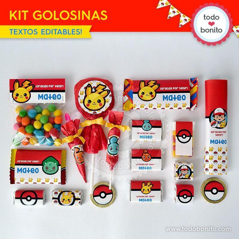 Golosinas Pokemon Para Imprimir Pokemon Kids Festas Mangá Pokemon