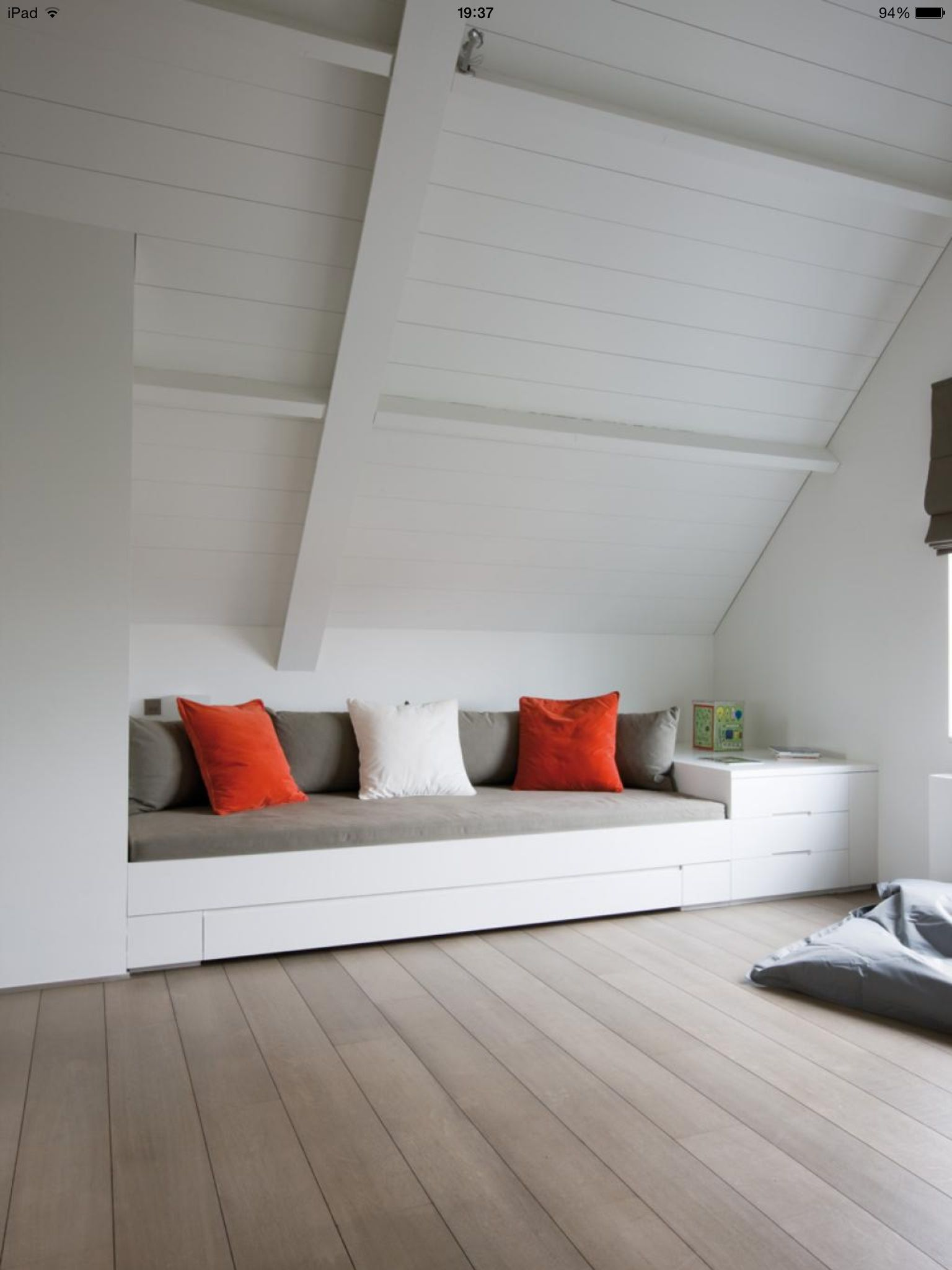 Small attic loft bedroom ideas  Built in seats are awesome esp in harder spaces Vinokatto matala