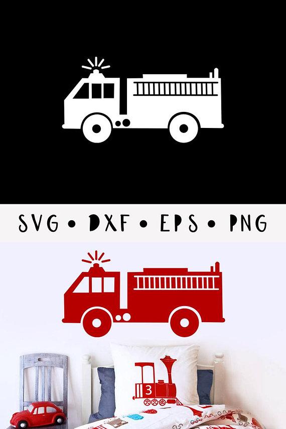 firetruck svg fireman vector boys fire clip art dxf cricut