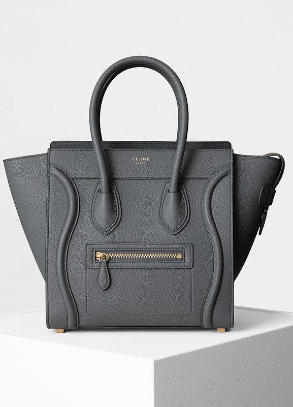 Micro Luggage Handbag In Baby Grained Calfskin Céline