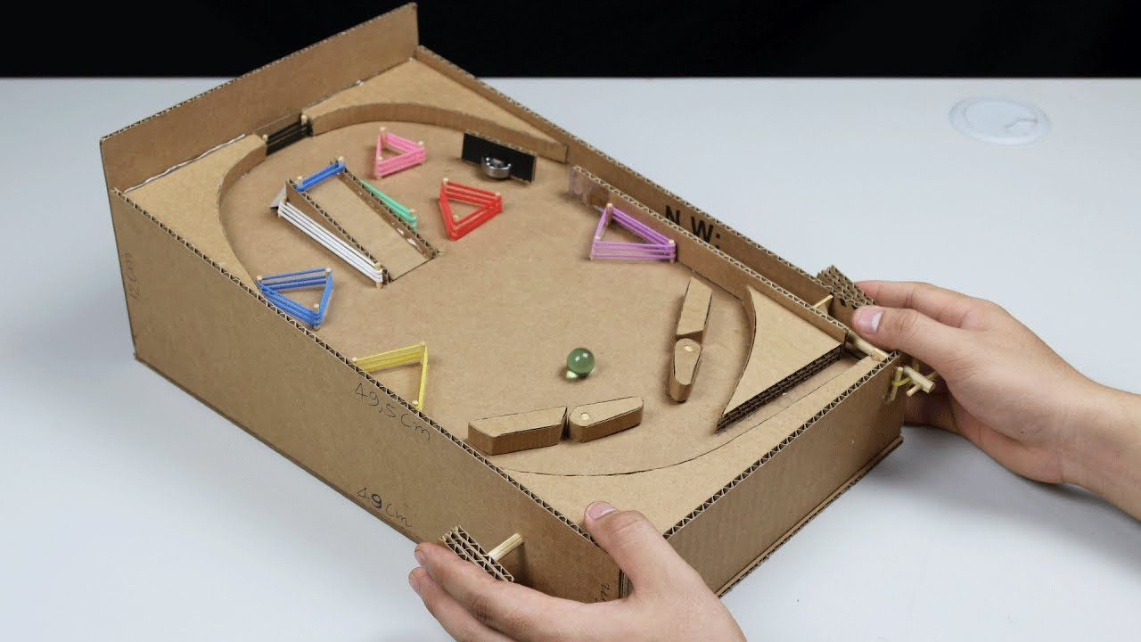 How to make a Pinball Machine with Cardboard at Home ...