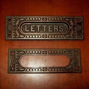 I Am Crazy For This Antique Letter Mail Slot With Interior