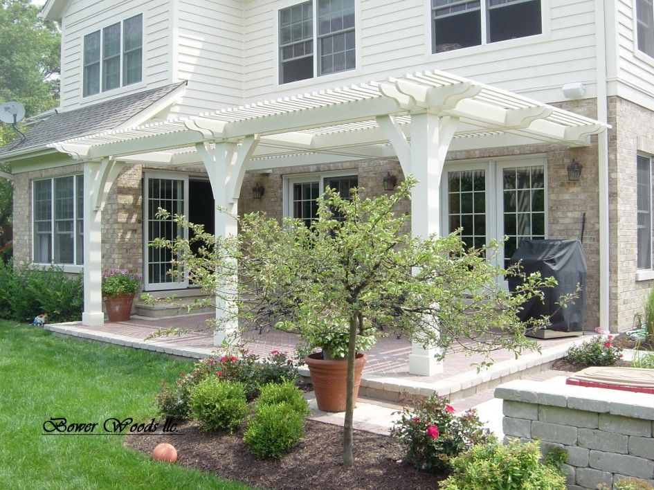 Living a Beautiful Life ~ White Cute Pergola Attached to House Plans With Wood  Pergola Building Materials - Living A Beautiful Life ~ White Cute Pergola Attached To House Plans
