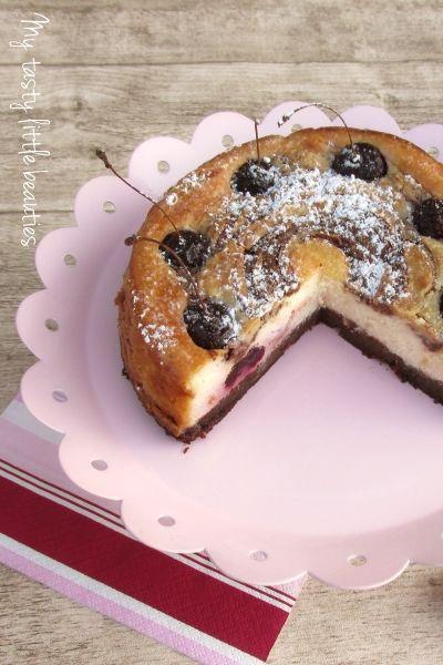 """Frl. Moonstruck kocht!: Besuch von...   Johanna vom Blog """"My tasty little beauties"""" mit Brownie-Käsekuchen mit Kirschen"""