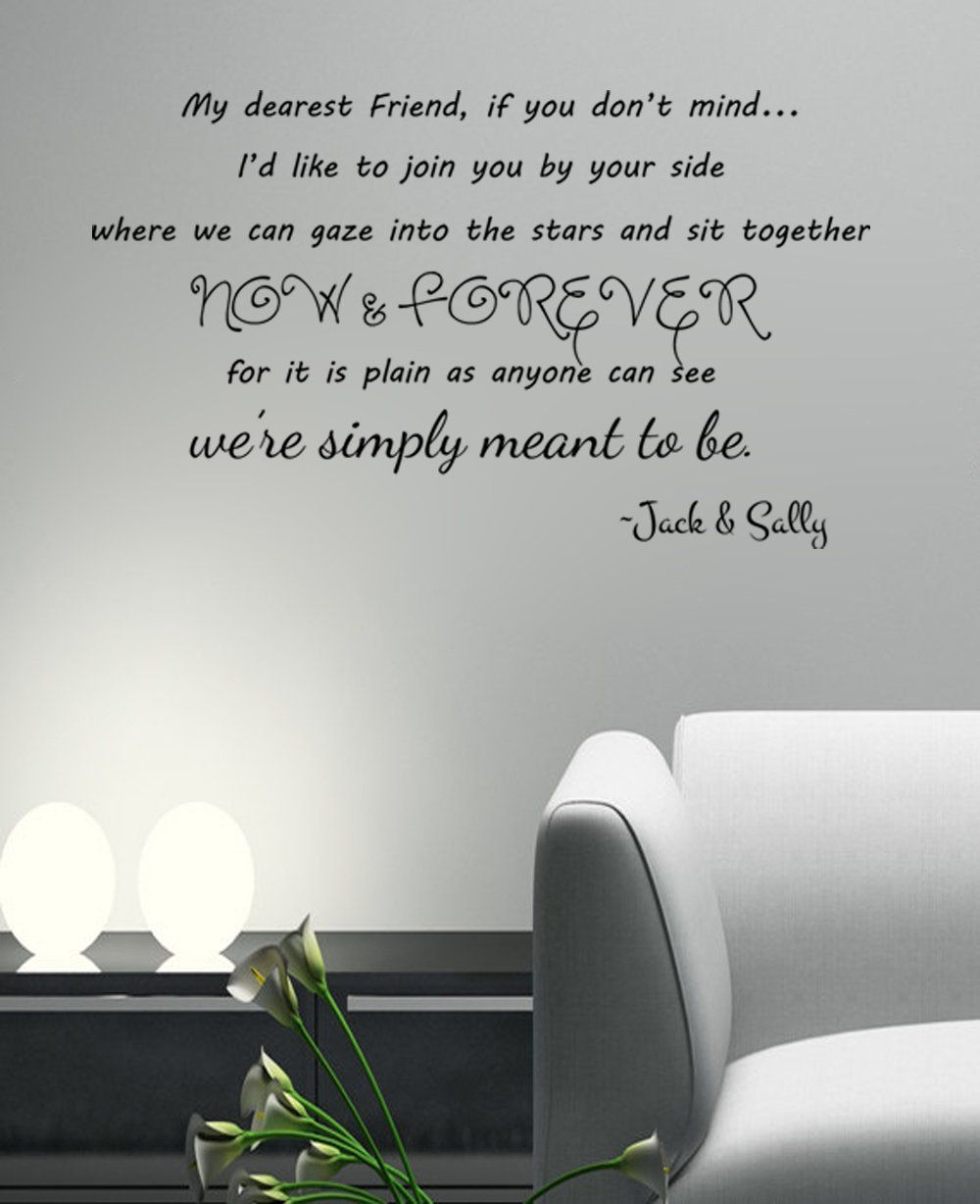 We\'re Simply Meant To Be- Jack and Sally Skellington lyrics Wall ...