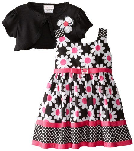 0b0878511a17 Youngland Baby-Girls Infant Daisy Print Woven Dress with Shrug ...