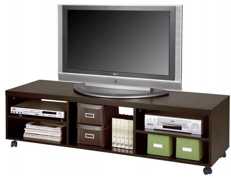 Mobile Base Porta Tv.Porta Tv Basso A Carrello Attrezzato Wenge Art