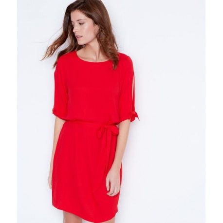 377b7ce90cd Robe rouge fluide