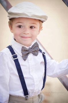 Boys Bow Tie And Suspenders TwoLCreations Wedding Boysclothes Toddler Outfit