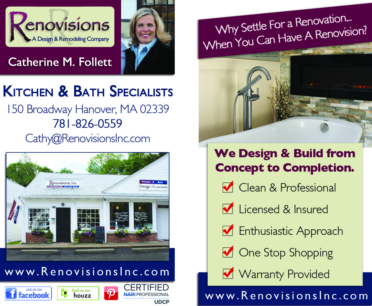 Business Card Designed For Renovisions Kitchen Bath Remodeling