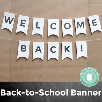 photograph about Welcome Home Banner Printable identify Totally free Printable: Welcome Again! Banner #backtoschool Mallow