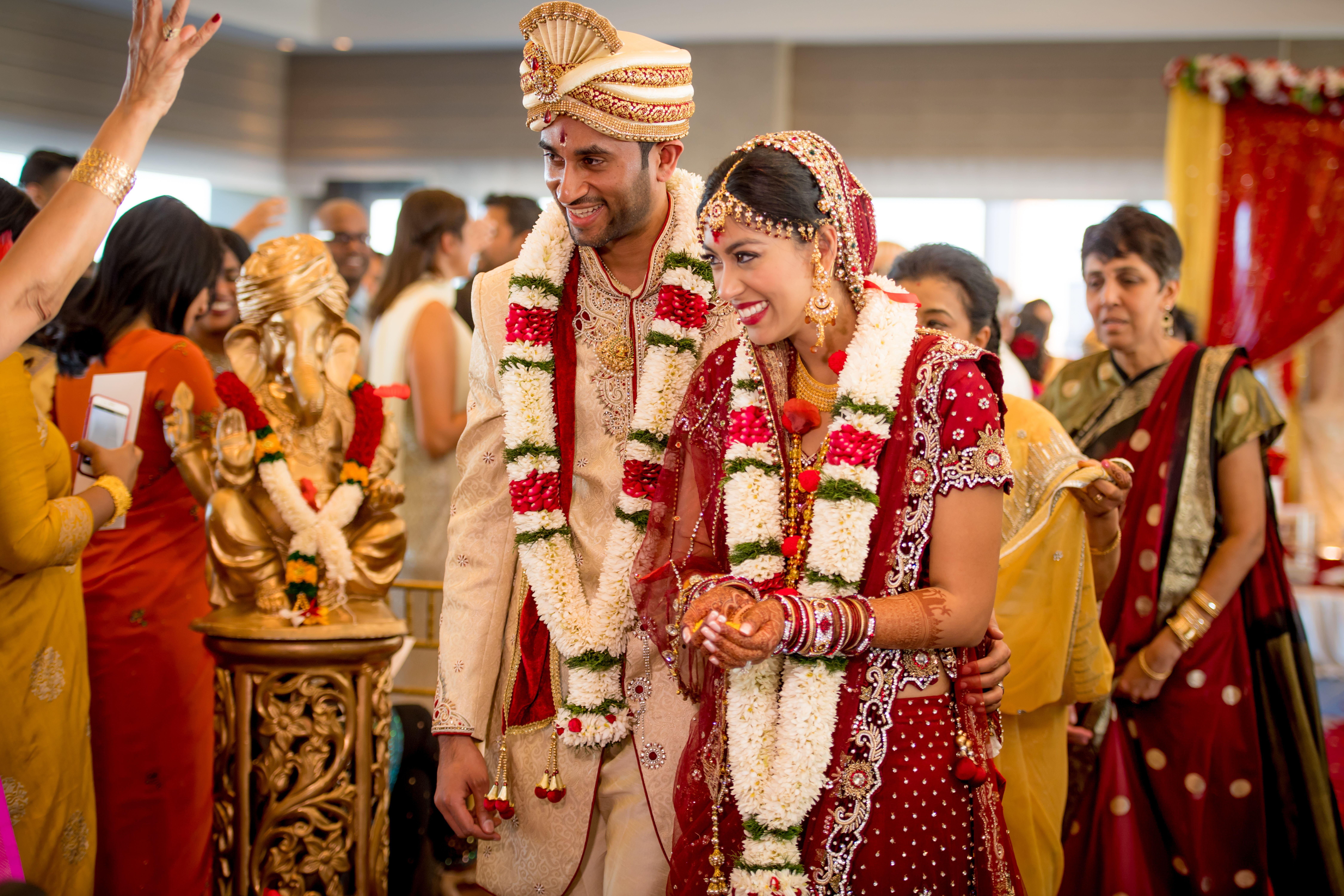 Priya and Kannan, Mixed Wedding Ceremony at Hatt Jersey