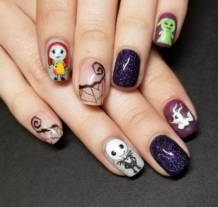 20 Cute Halloween Short Nails For 2020 Ideasdonuts In 2020 Bohemian Nails Sally Nails Halloween Acrylic Nails