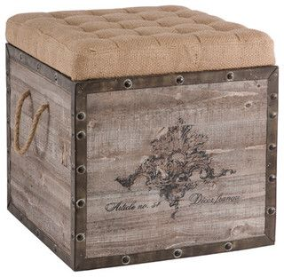 Aidan Gray Decor Storage Cube - eclectic - ottomans and cubes - by Layla Grayce