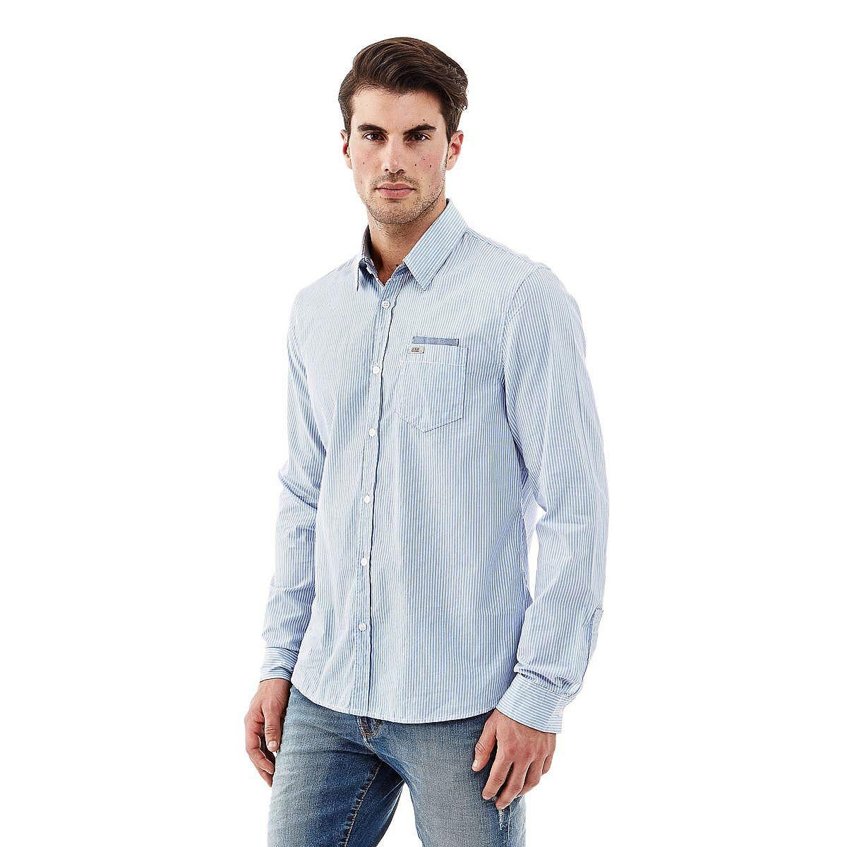 Hemd detachable Collar    Ein gestreiftes Hemd ist immer eine optimale Wahl. Ein trageangenehmer Stoff in Kombination mit einem klassischen Schnitt: Auch die aufgesetzte Brusttasche steht für moderne Eleganz.    Aufgesetzte Brusttasche.  Verschluss mit Knöpfen.  100% Baumwolle.  Maschinenwäsche bei 30°.  Abgebildet ist Größe M, Maße:  Gesamtlänge ca. 78 cm.  Schultern ca. 46 cm.  Fällt größenge...