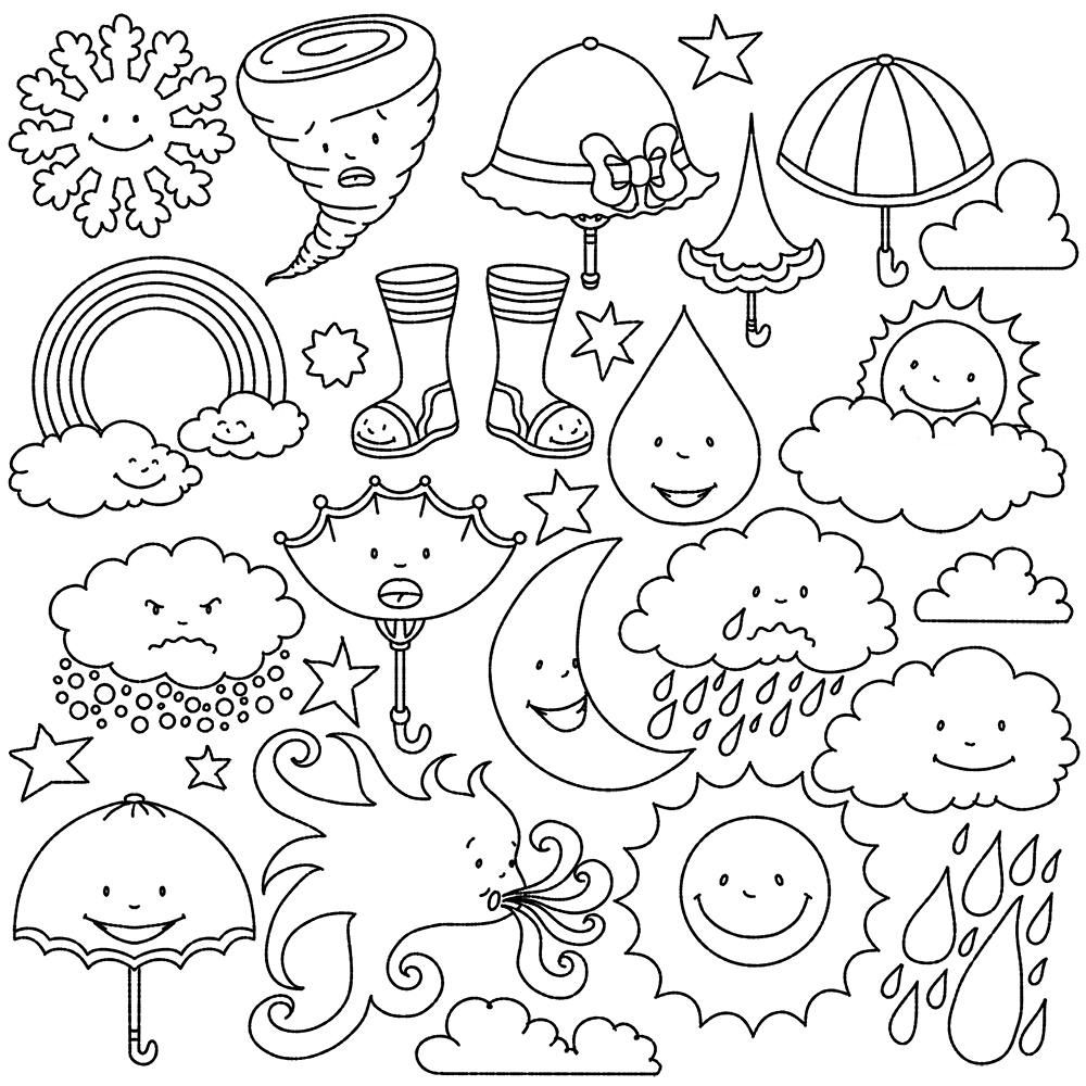 45++ Rainy day clipart black and white info