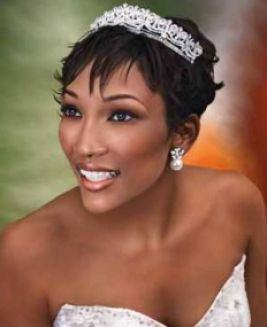 Short African American Wedding Hairstyles Short Wedding Hair Wedding Makeup Looks Natural Wedding Makeup