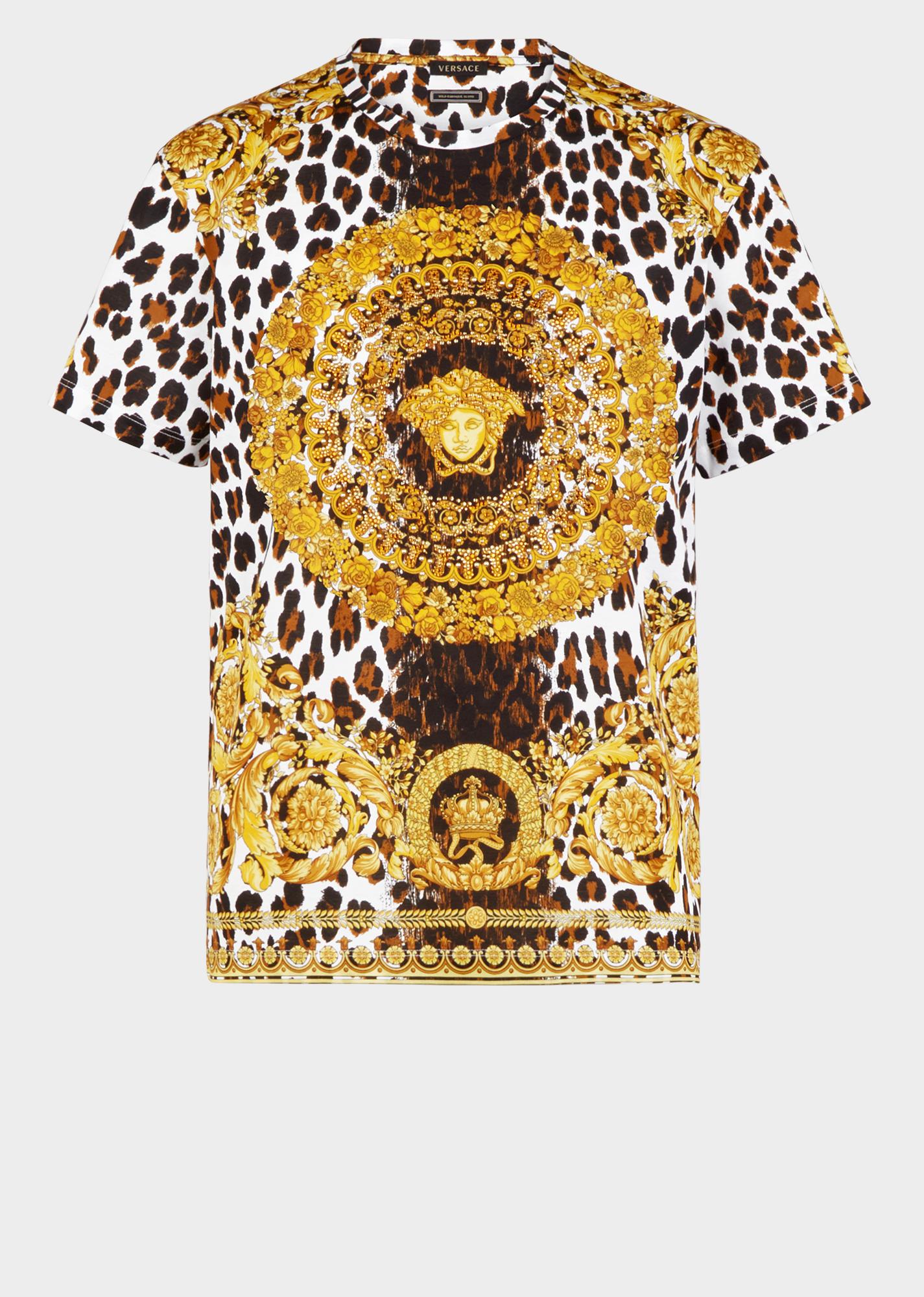 Wild Baroque Tribute T Shirt For Women Us Online Store Versace Shirts Versace T Shirt Versace Men