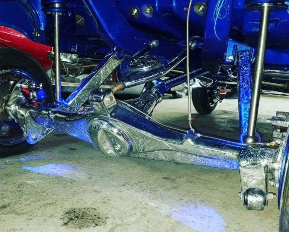 Now that's an undercarriage! Just a tease of what we will be at World of Wheels in March.