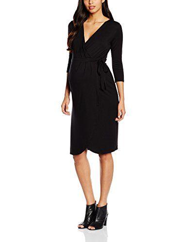 MAMALICIOUS Damen Umstandskleid MLDALILA 3/4 JERSEY WRAP DRESS, Knielang,  Einfarbig, Gr · Wrap DressesGermanyWrapsLandBlack