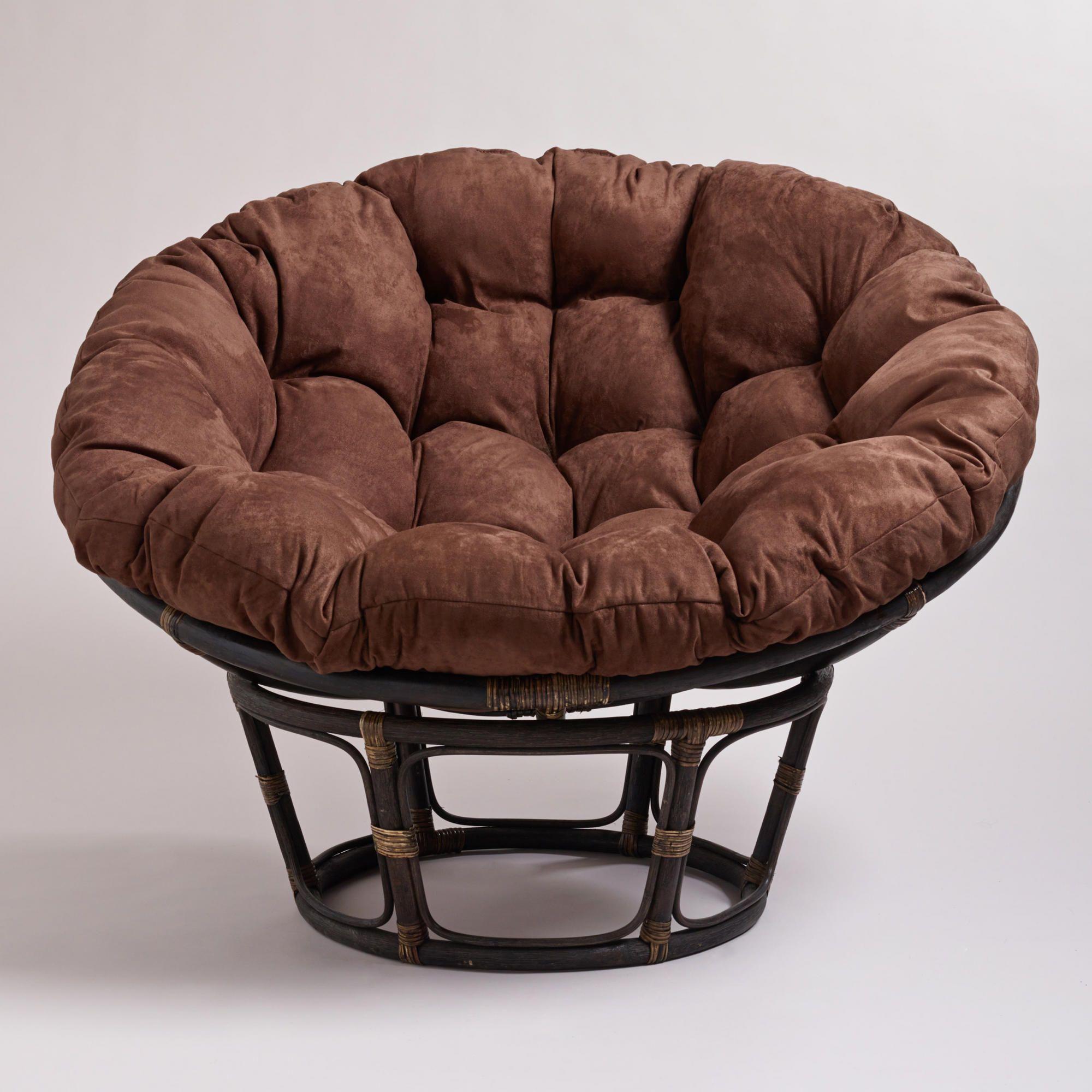 Java Microsuede Papasan Chair Cushion Papasan Chair Papasan Chair Cushion Circle Chair