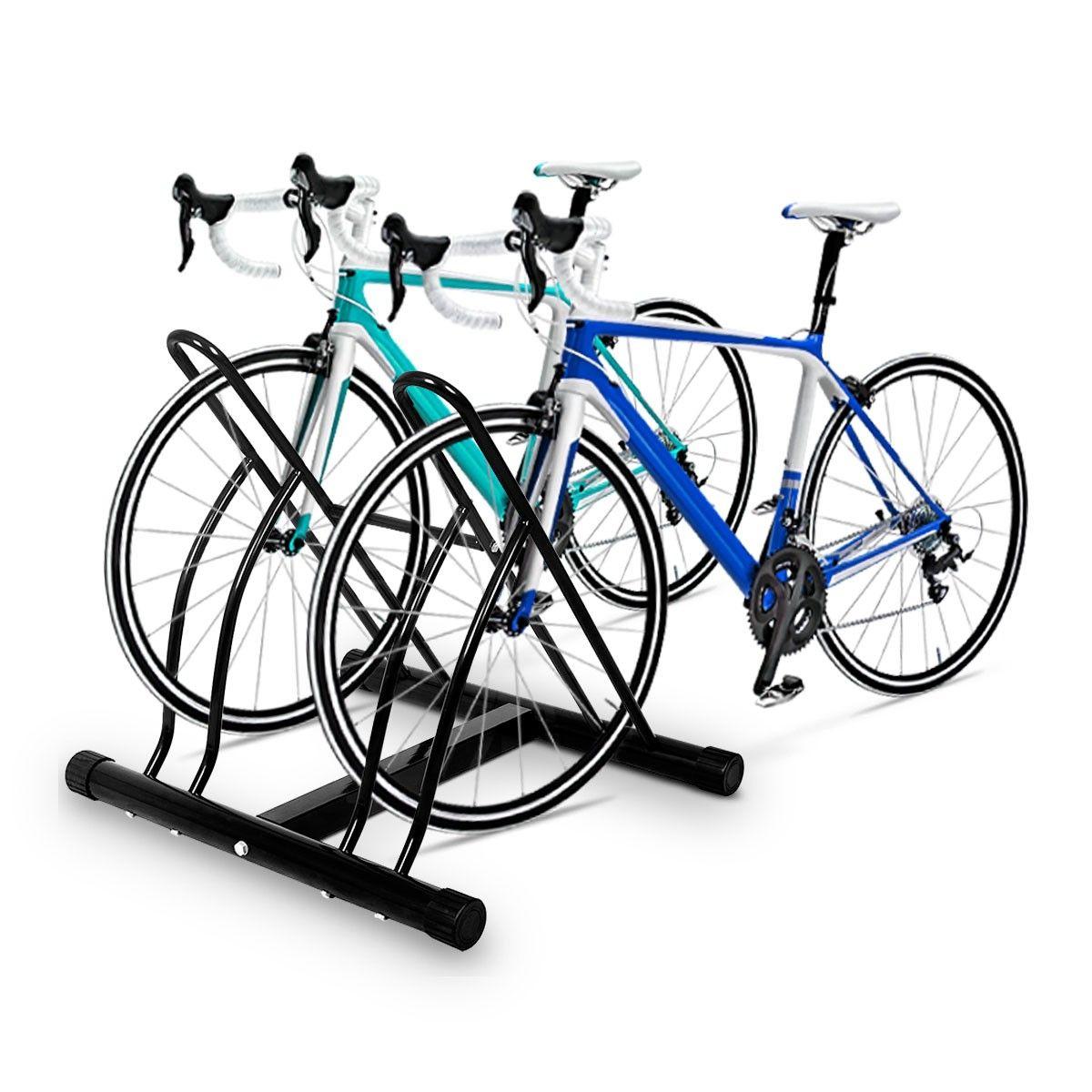 Costway Bike Floor Parking Rack 2 Bicycle Bracket Stand