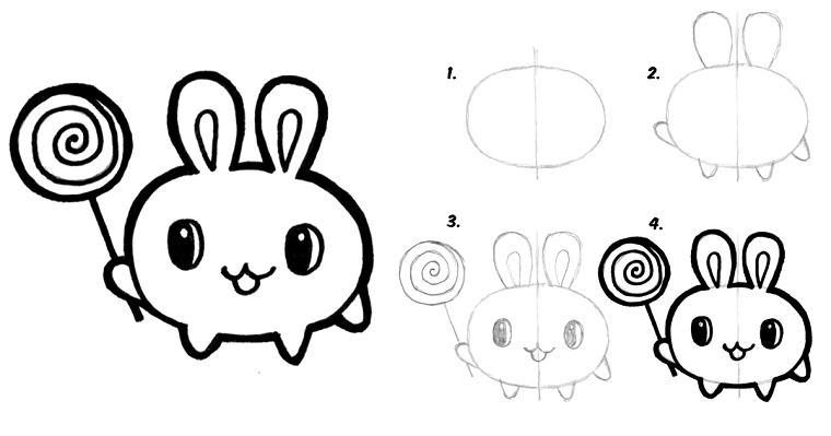 Disegni Belli E Facili Come Disegnare Un Animaletto Tutorial Disegno A Matita Disegni Kawaii Kawaii Idee Per Disegnare