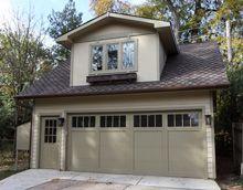 Custom 22x24 reverse gable garage with gable dormer for Reverse gable garage