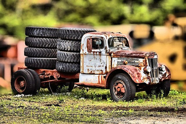 Tired Old Truck With Images Trucks Model Cars Kits Old Trucks