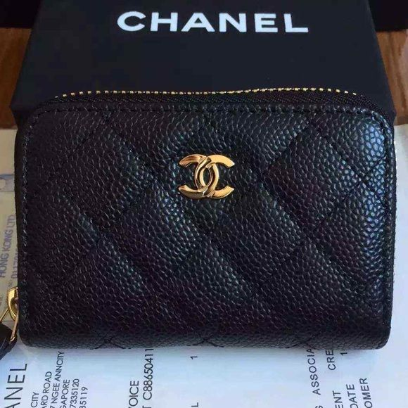 fcc1418cde83 Chanel zippy coin bag Real caviar leather super cute! $292 comes with bag,  receipt, box and matching ID numbers. Place your order now! Bags Wallets