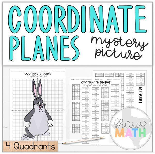 Big Chungus Coordinate Plane Activity 4 Quadrants Middle School