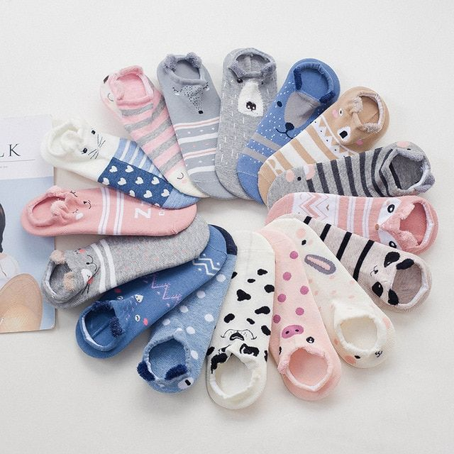 New Socks Women Cute Kawaii Cartoon Cat Socks Fashion Animal Print Warm Cotton Socks Female Japanese Street Style Harajuku Sock Excellent Quality Underwear & Sleepwears Socks