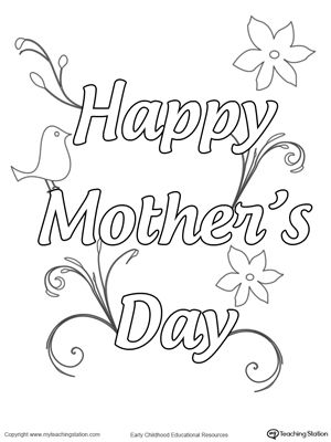 FREE Happy Mothers Day Sign Worksheet Celebrate Mom By Giving Her