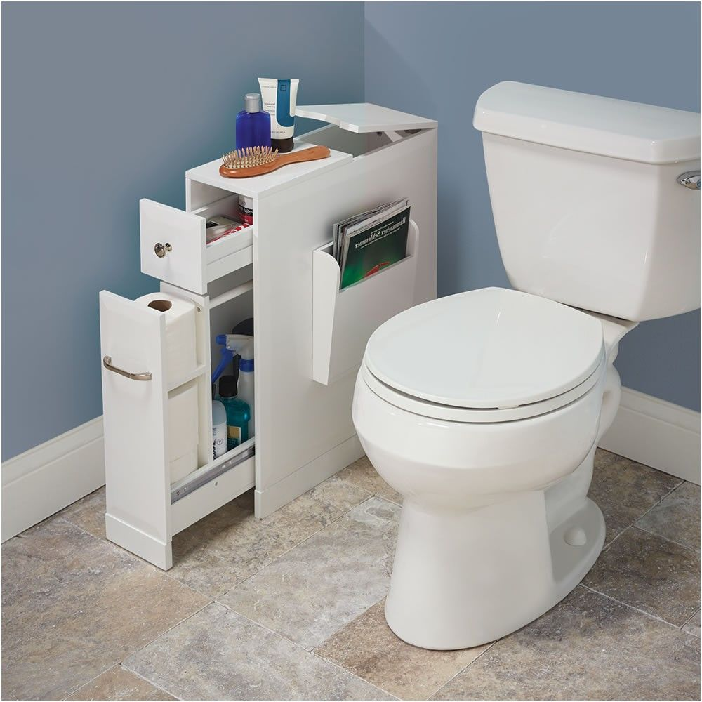 The Tight Space Bathroom Organizer Hammacher Schlemmer From Bathroom Organizer