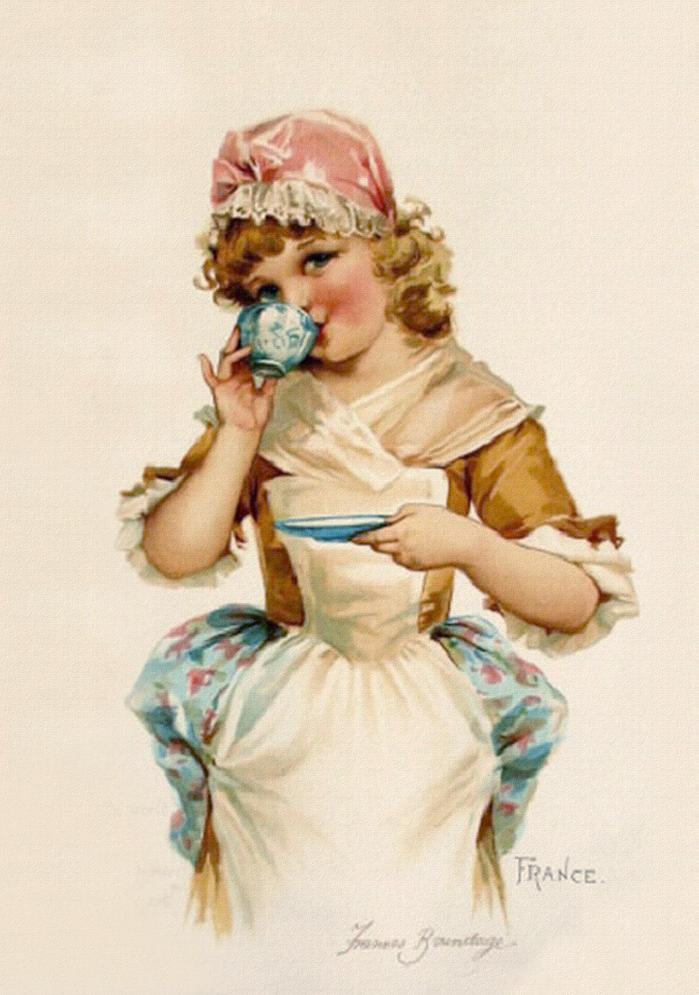 Время пить чай картинки с детьми декупаж, картинка