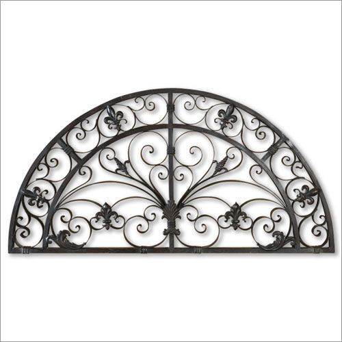 Uttermost Elgin Arched Forged Metal Wall Art In Aged Black Wall Sculptures Rod Iron Wall Art Metal Wall Art Iron Wall Art