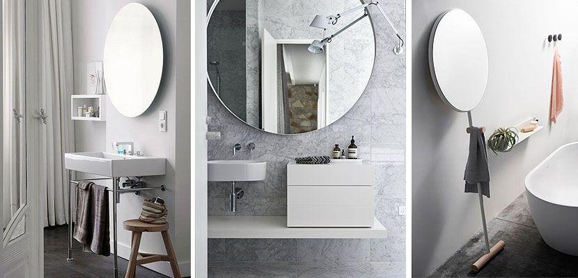 Espejos redondos para decorar el cuarto de ba o banys espejos para ba os cuarto de ba o y Espejos redondos para banos
