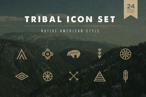 Tribal Icon Set by skyboxcreative on Creative Market