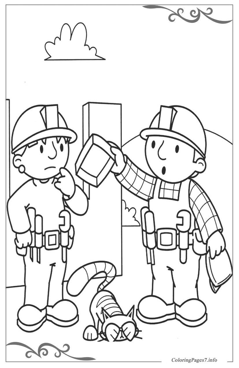 Bob the Builder Printable Coloring Pages for Kids