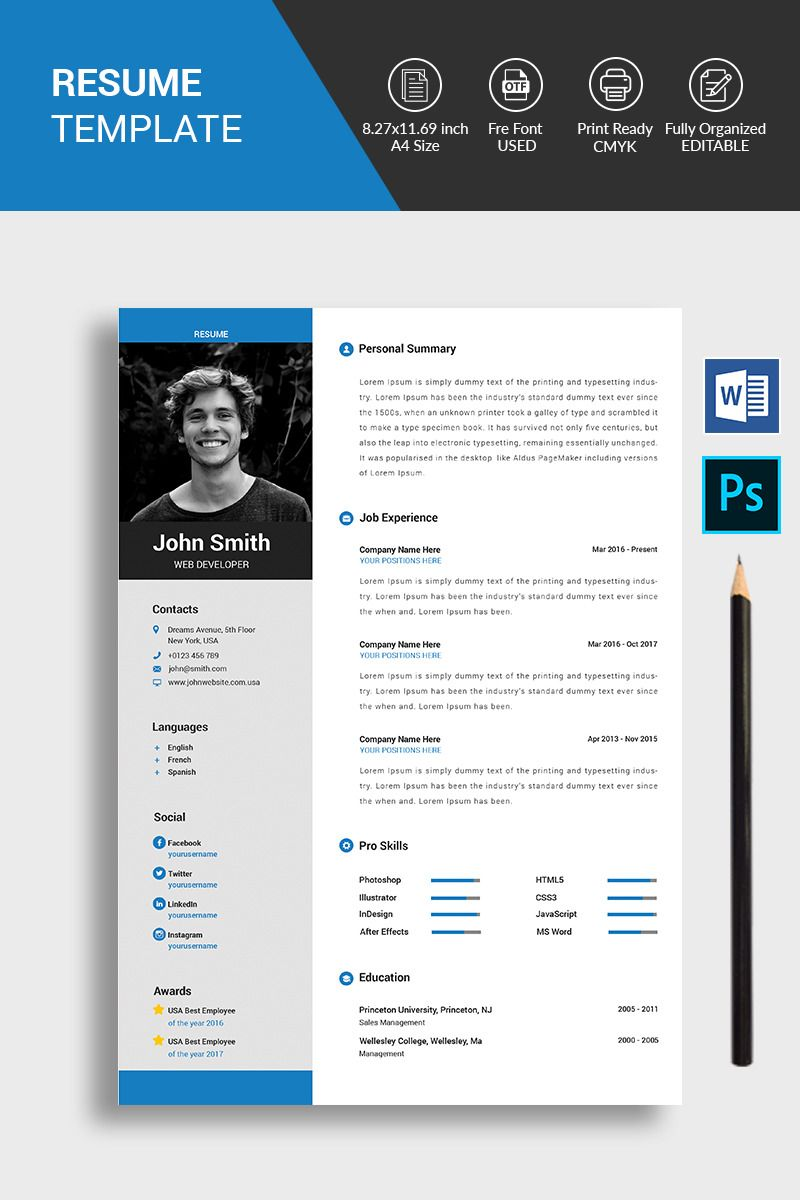John smith resume template resume design template