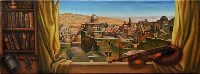 "Saatchi Art Artist eduard gurevich; Painting, ""Window on The Temple Mount."" #art"