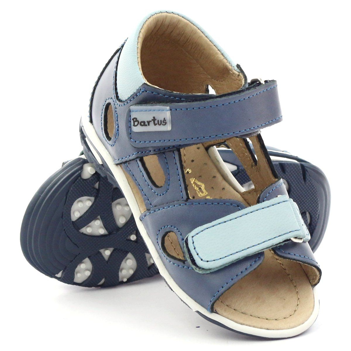 Sandalki Chlopiece Rzepy Bartus Niebieskie Baby Shoes Boys Sandals Shoes