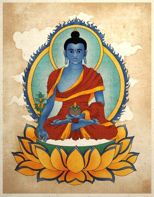 Blue Medicine Buddha Asian Art Print Buddha Art Zen Art Yoga Etsy Buddha Art Buddhism Art Zen Art