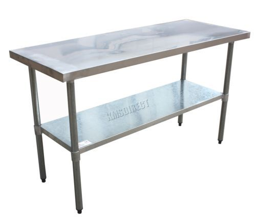 WestWood Stainless Steel Commercial Catering Table Work Bench - 5 ft stainless steel table