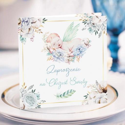 Zaproszenia Na Chrzest Uroczy Chlopiec 10szt Decorative Tray Glassware Tea Cups