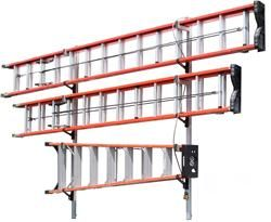 84 1 2 3 Ladder Wall Mount Ladder Rack Ladder Storage Ladder