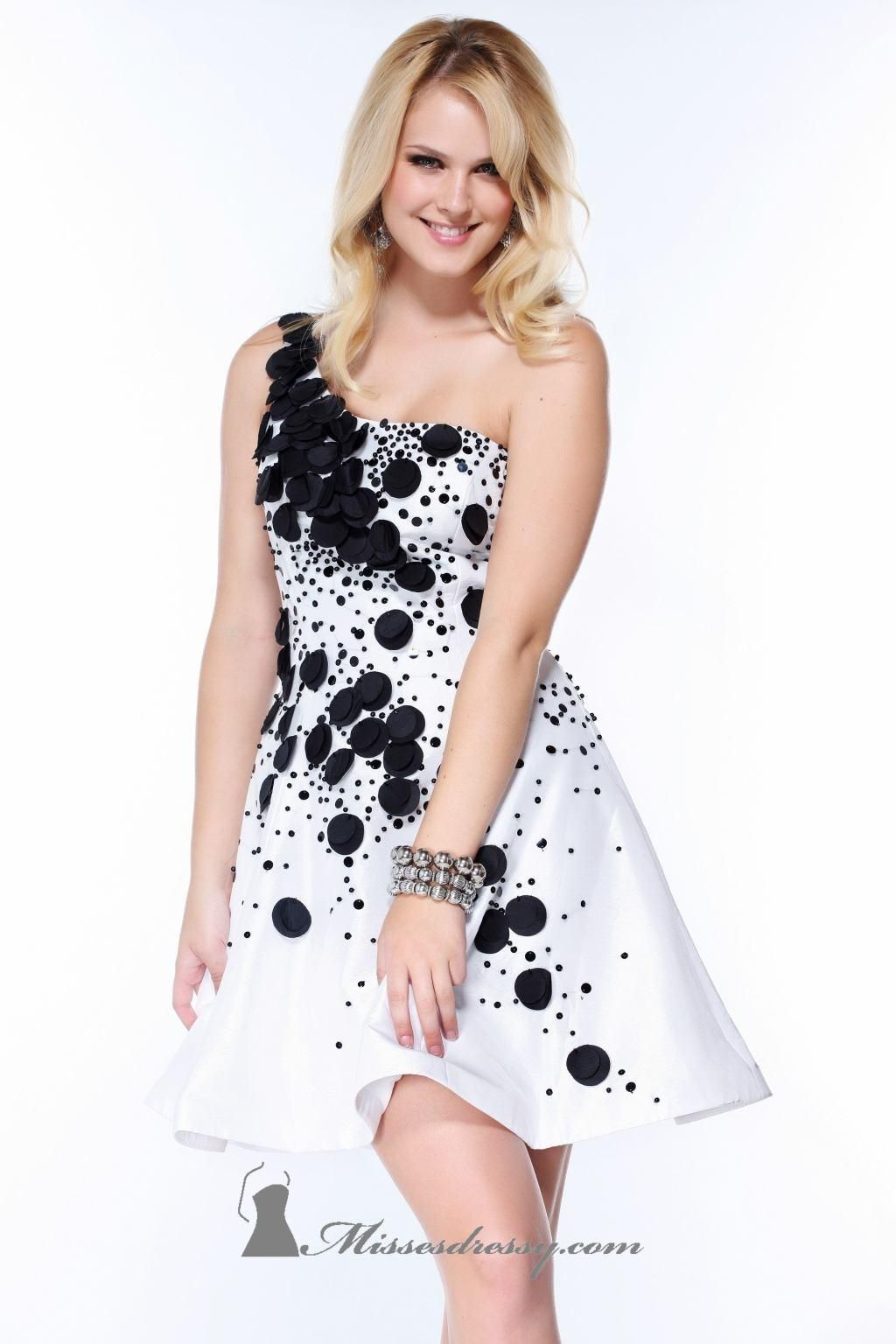 Spectacular Black And White Party Dresses Ideas : Black And White ...