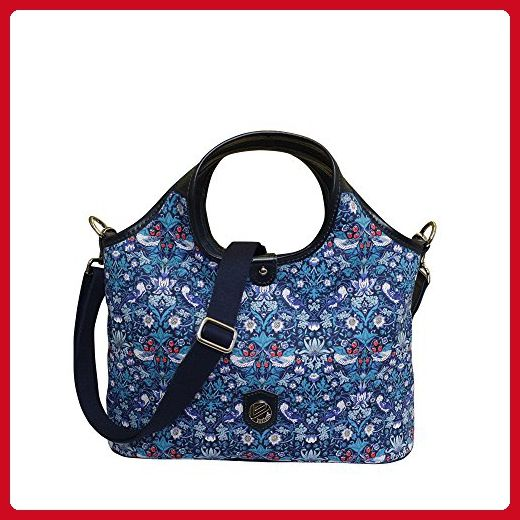 Bonfanti Liberty Strawberry Thief Grab Bag Shoulder Handbag - Blue - Shoulder  bags ( Amazon e5ce9d0858